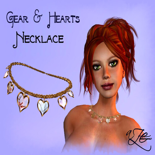 AZE-Gear-&-Hearts-Necklace-Poster