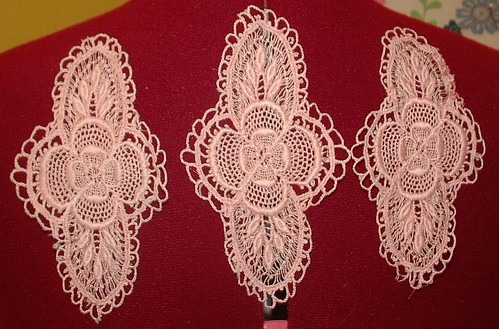 machine made lace medallion