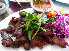Crying Tiger Beef @ Jitlada Thai