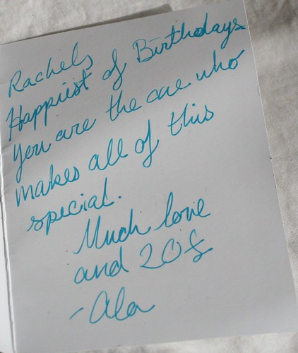 Birthday Inscription from Alicia
