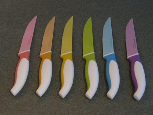 Rainbow Steak Knives