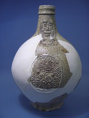 The Bartmann jug with the smoothed plaster infill added.