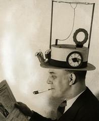 Draagbare radio / Radio hat