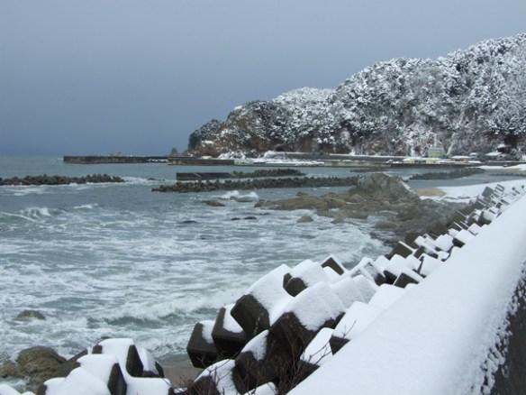 A snow scene