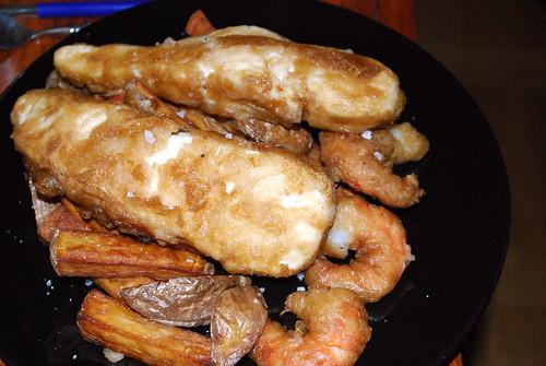 fish'n'chips + shrimps