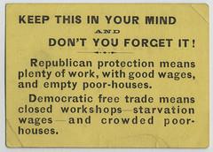 Republican Party Handbill, ca. 1880