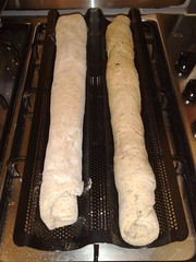 Tomorrow's bread will be sourdough granary baguettes