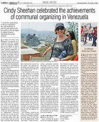 Cindy Sheehan in Venezuela