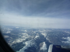 Flying Home Over the Rockies