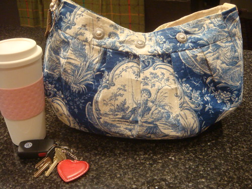 Chameleon Bag - Blue Toile