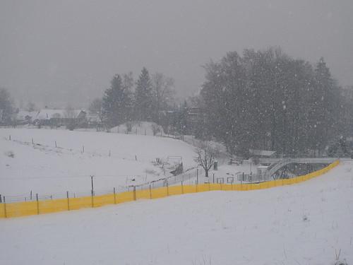 yellow fence