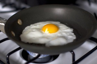 frying an egg