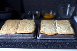 meringue layer-blobs, after baking