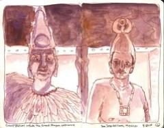Grand Mayan satues
