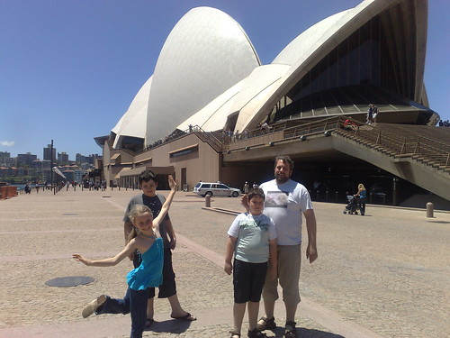 In front of the Sydney Opera House
