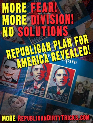 Republicans More Fear More Division No Solutions Image