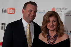 Arianna Huffington and Dylan Ratigan at 2010 W...