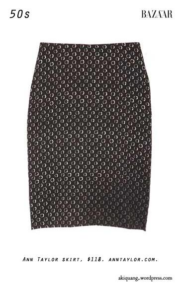 Ann Taylor skirt, $118. anntaylor.com.
