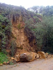 Rockslide onto Avon st near Baxter near my house in echo park