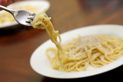 Spaghetti with Cheese and Black Pepper