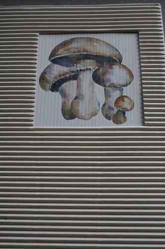 Lovely hand-watercolored mushroom