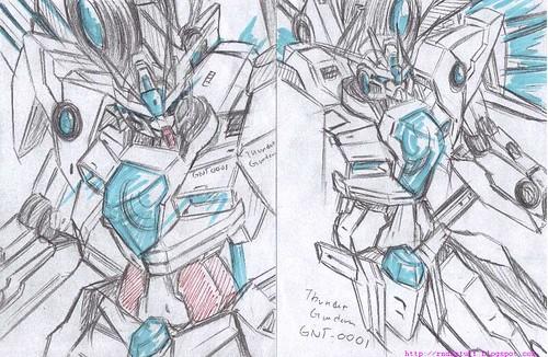 GNT-0001 Thunder Gundam Actual Color