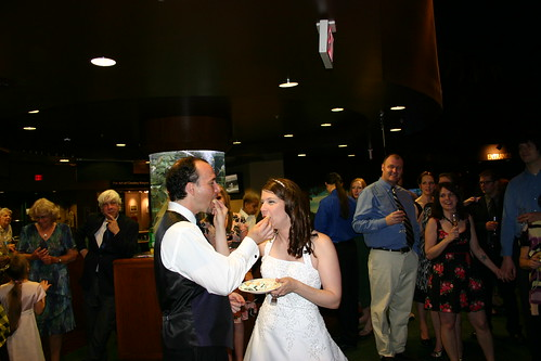 Wedding Weekend - Reception - Feeding Each Other Cake (By Liza Franco)