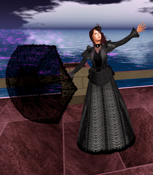 *RD* Black Victorian Day Gown