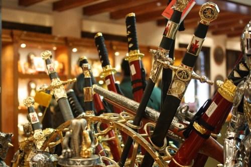 Tienda de espadas en Toledo