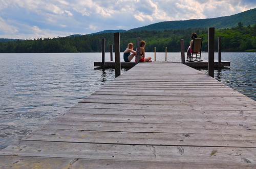 Relaxing on the dock