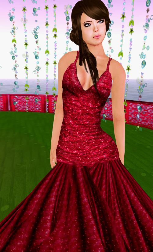 SHIKI-long dress STARDUST RUBY