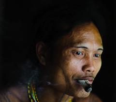 Smoking Mentawai Shaman