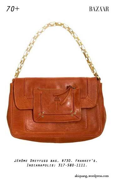 Jérôme Dreyfuss bag, $730. Frankey's, Indianapolis; 317-580-1111.