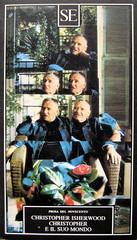 Christopher Isherwood, Christopher e il suo mondo, SE 1989, cop. (part.)