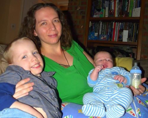 Mom, Landon, and Ollie