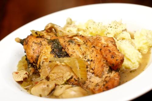 40 Clove Slow Cooker Chicken