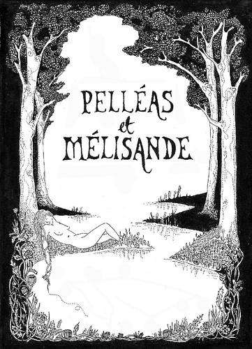 CUOS Pelléas et Mélisande artwork by Anna Trench