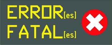 Error[es]Fatal[es]