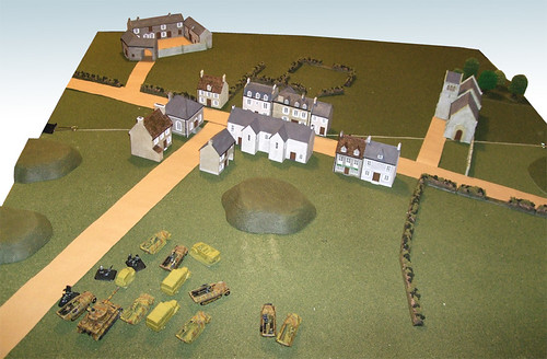 Terrain for our first Flames of War game