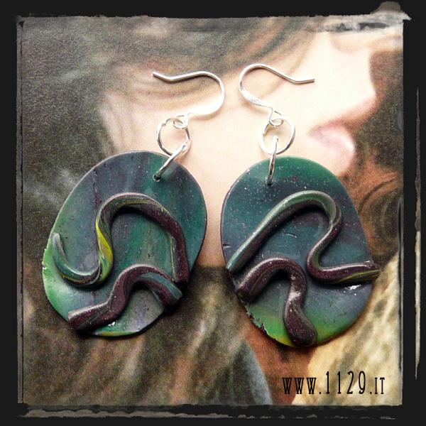 orecchini verdi - green earrings LCVEFIM