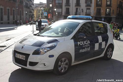 Renault Scenic de la Policía Municipal de Madrid