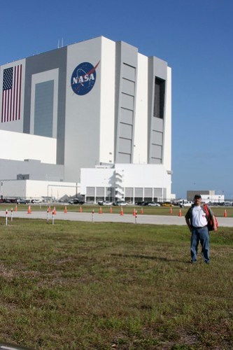 In Front of the VAB