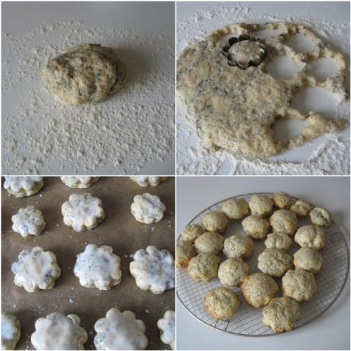 The process of baking Poppy Seed Scones