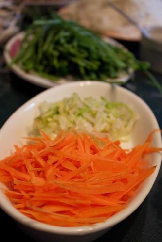 salad roll carrots