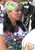 Sandra Figueroa takes part in the celebration.