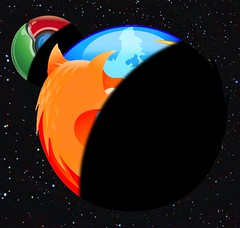 Firefox & Chrome in space