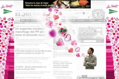 En San Valentín, hasta los banners se enamoran