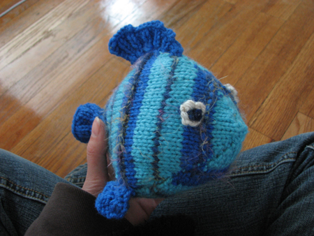 Knitted Fish stuffed toy