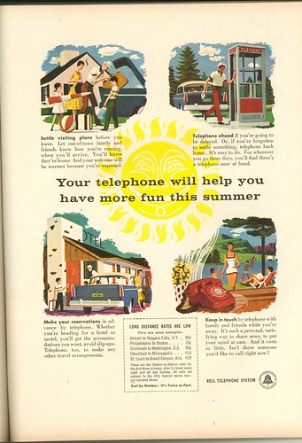 old Bell telephone ad