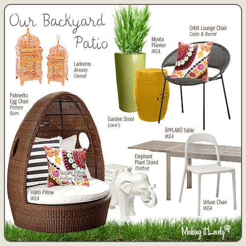 our backyard patio furniture making